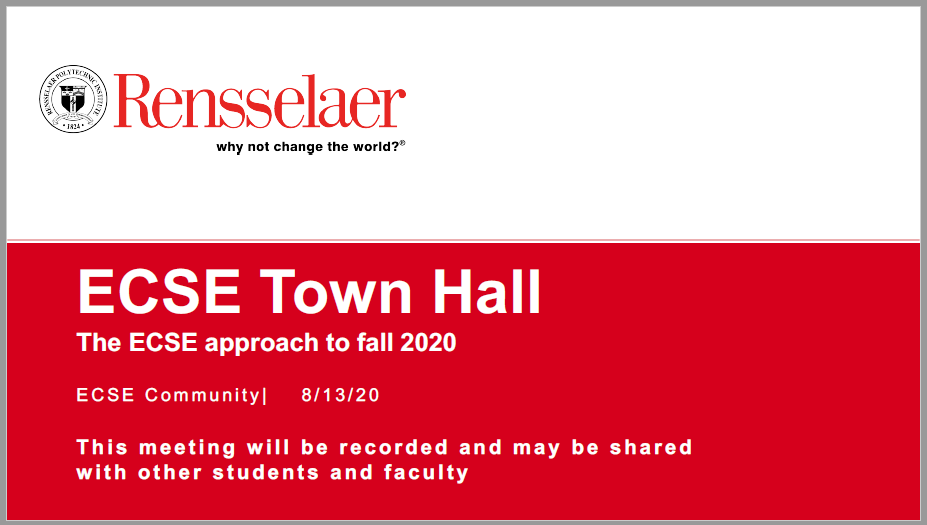 Town Hall Intro Slide