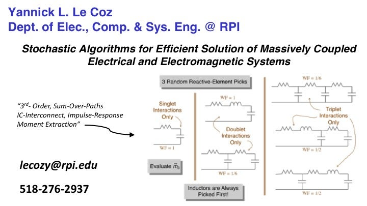 Yannick LeCoz: Efficient Solution of Massive Electrical and Electromagnetic Systems