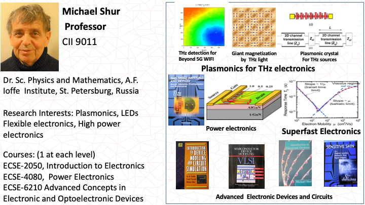 Michael Shur: Microelectronics and Applications