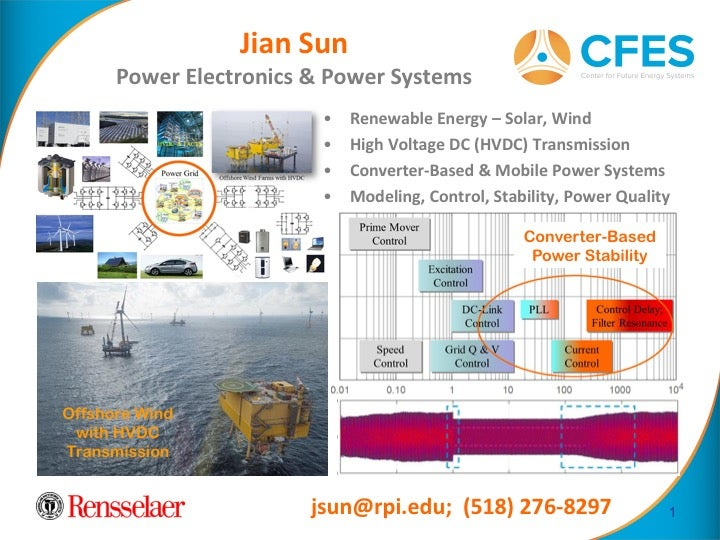Jian Sun: Power Electronics and Systems