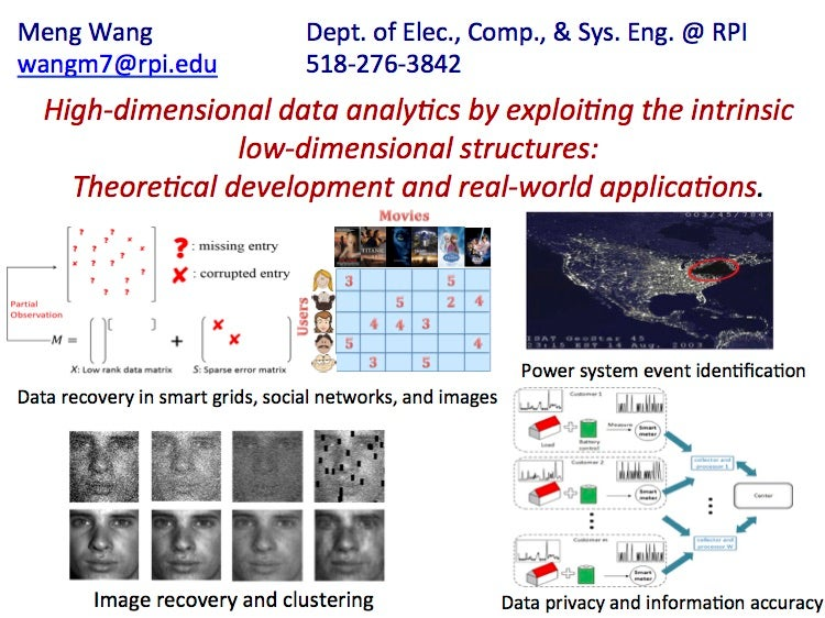 Meng Wang: High Dimensional System Data Analytics and Approximation