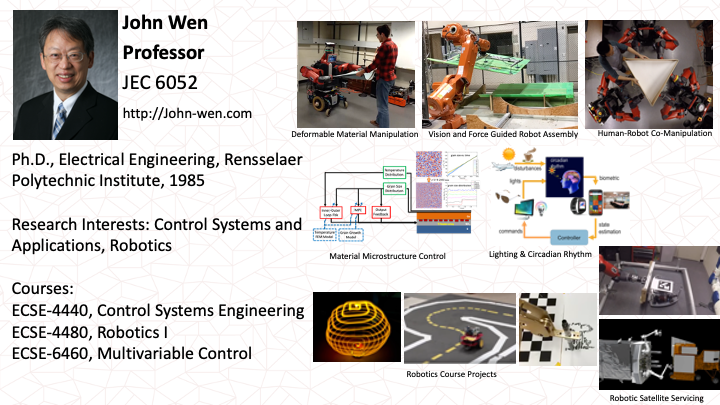 John Wen: Smart Systems, Robotics